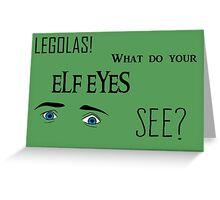 Elf Eyes Greeting Card