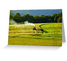 Making Hay In PA Greeting Card