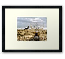 Moody Day at The Shore... Framed Print