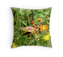 a summer field Throw Pillow