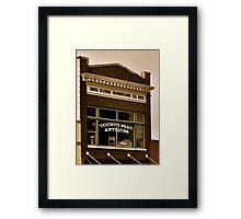 Downtown Hardware Framed Print