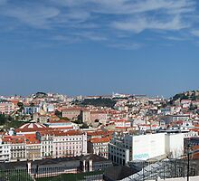 Panoramic shot of Lisbon's old neighbourhoods by dcordeiro