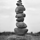The 12 Stones Balancing in a Pile by vvfineartphotog