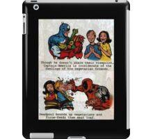 Captain America and Deadpool on Vegetarians  iPad Case/Skin
