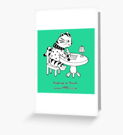 Time Before Email (Green) Greeting Card