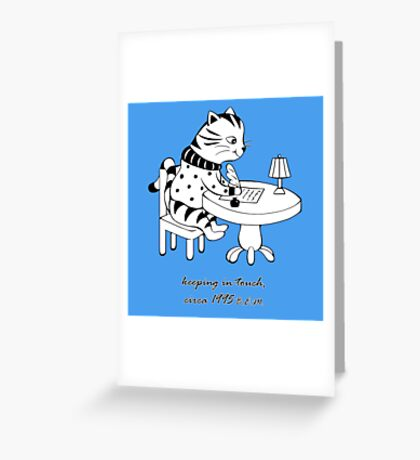 Time Before Email (Blue) Greeting Card