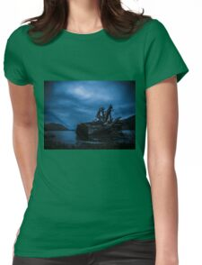 Night Fell Womens Fitted T-Shirt