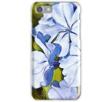 Blue Plumbago watercolour iPhone Case/Skin