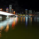 Brisbane City & River By Night. Queensland, Australia. by Ralph de Zilva