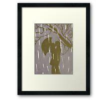Love in the Rain Framed Print