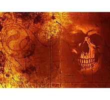 Fire Scull Photographic Print