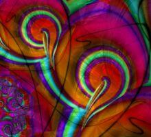Psychedelic Grunge Frac Sticker