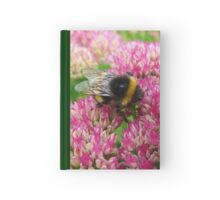 Bumble Bee on the Sedum Hardcover Journal