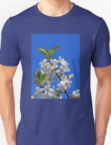 Pear Tree Blossoms Blue Sky Unisex T-Shirt