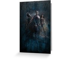 Batman vs Superman: Dawn of Justice Design Greeting Card