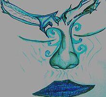 Mind Bird Two Blue by vmerlino
