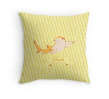 Fresh lemon shark Throw Pillow
