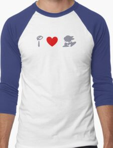 I Heart Thumper (Classic Logo) (Inverted) Men's Baseball ¾ T-Shirt
