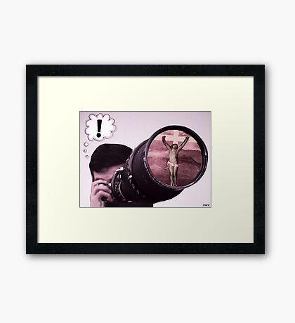 right spot/right time Framed Print