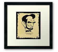 "ABE LINCOLN:  ""I'm voting DEMOCRATIC!"" Framed Print"