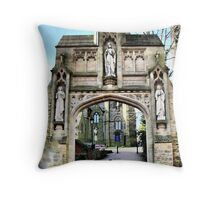 St Marys Archway, Chorley Throw Pillow