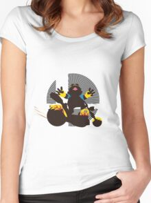Wario (Riding Bike) - Sunset Shores Women's Fitted Scoop T-Shirt