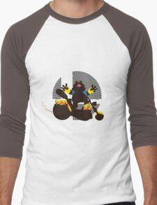 Wario (Riding Bike) - Sunset Shores Men's Baseball ¾ T-Shirt