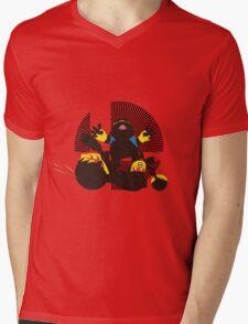 Wario (Riding Bike) - Sunset Shores Mens V-Neck T-Shirt