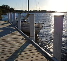 Laurieton United Servicemen's Club Marina jetty by Graham Mewburn