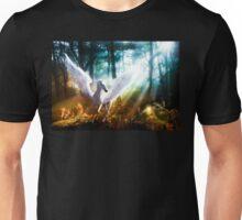White Pegasus Meets Little Fairy Unisex T-Shirt