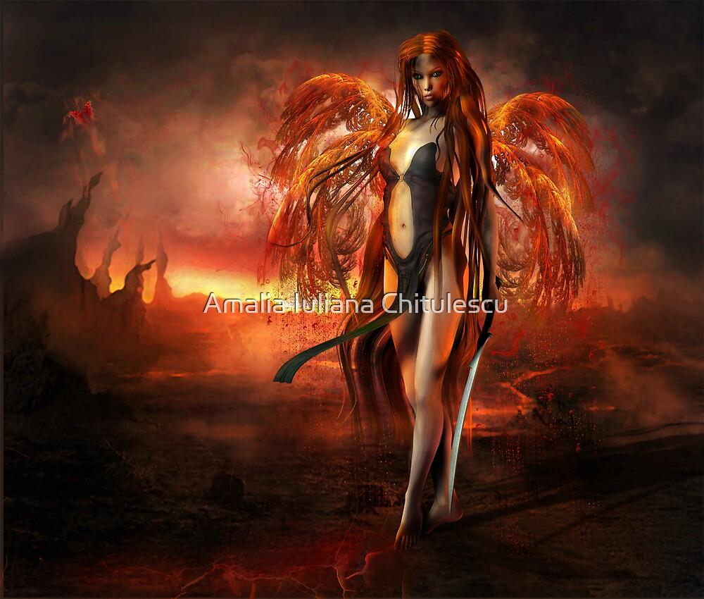 With fire by Amalia Iuliana Chitulescu