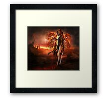 With fire Framed Print