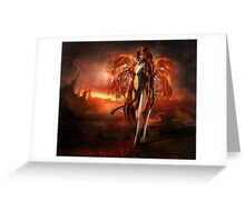 With fire Greeting Card