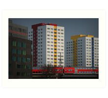 Berlin streetscape Art Print