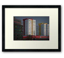 Berlin streetscape Framed Print