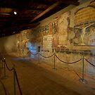 800 Year old Frescos in Italy by Warren. A. Williams