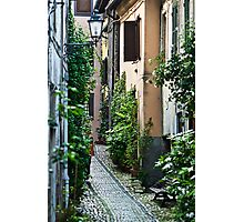 Alley Gardens in Anagni Italy. Photographic Print