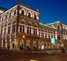 Vienna at night by Marius Brecher