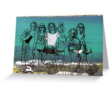Sculptures by the sea - Bondi Greeting Card