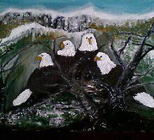 snow eagles by kodzo