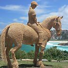 Sculptures by the sea - Bondi - Straw Horseman by Marius Brecher