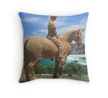 Sculptures by the sea - Bondi - Straw Horseman Throw Pillow