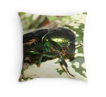 The green flourescent bug # 2 Throw Pillow