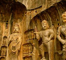 Fengxian Temple, Longmen Grottoes, China by C1oud