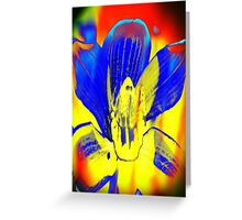 4392 Psychedelic Orchid Greeting Card