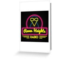 Raven Heights Radio Logo Greeting Card