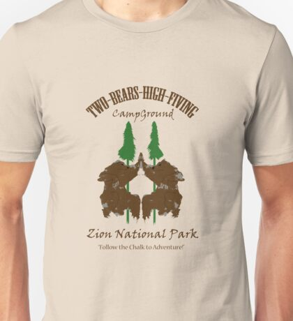 Two-Bears High Fiving Campground Unisex T-Shirt
