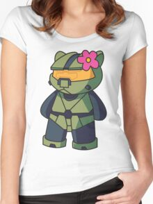 Halo Kitty Women's Fitted Scoop T-Shirt