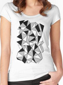 Ab Lines with Black Blocks Women's Fitted Scoop T-Shirt