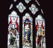 Window in All Saints Church Godshill  IOW by sweeny